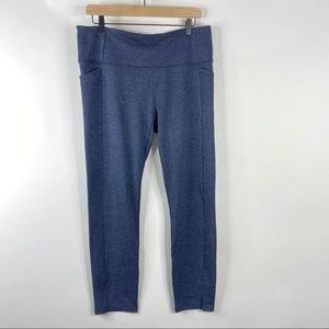 Athleta Leggings Herringbone Print Mercer Pockets